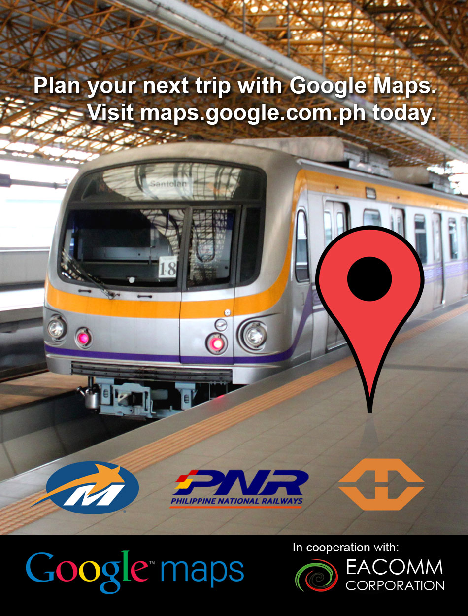 Metro Manila Transit Data in Google Maps