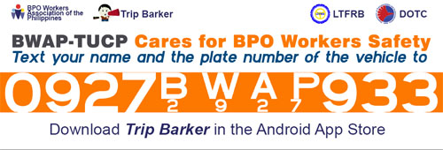 BWAP Text for Safety Project Launched with LTFRB