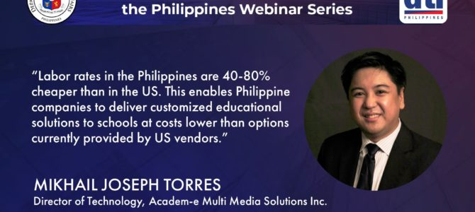 Edutech companies promote outsourcing of the development of e-learning solutions to the Philippines
